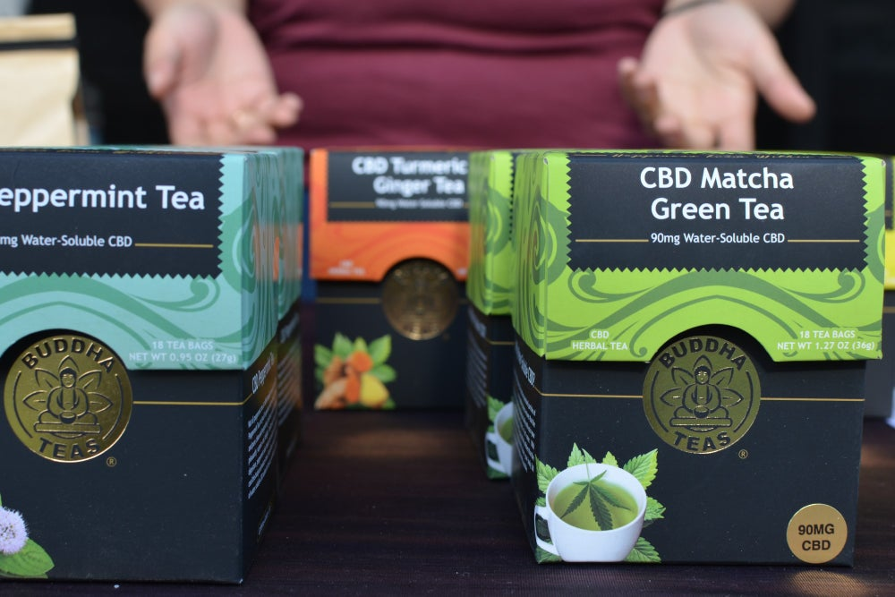 Buddha teas at the CBD Saturday Farmers Market. (Image credit: Lindsey Bartlett/Green Entrepreneur)